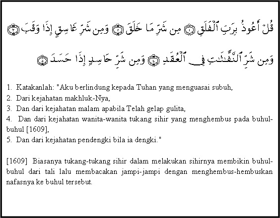 Isi Kandungan Al Quran Surat Al Falaq Pendidikan Sekolah